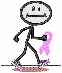 Breast Cancer Walk embroidery design