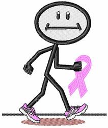 Breast Cancer Walk embroidery design