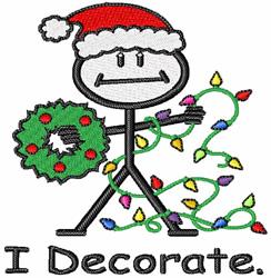 I Decorate embroidery design