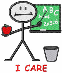 I Care embroidery design