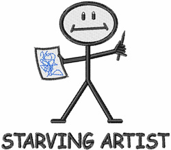Starving Artist embroidery design