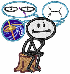 Astrophysicist embroidery design