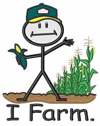 I Farm embroidery design