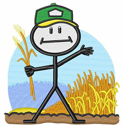 Wheat Farmer embroidery design