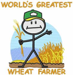 Wheat Farmer embroidery design