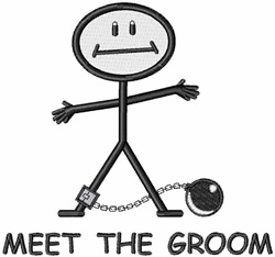 Meet The Groom embroidery design
