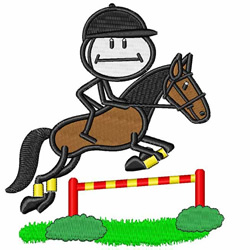 Horse Jump embroidery design