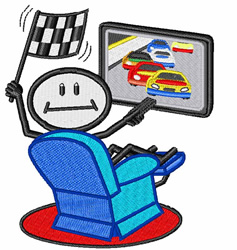 Car Racing Fan embroidery design