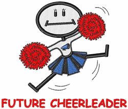 Future Cheerleader embroidery design