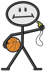 Basketball Coach embroidery design