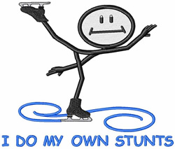 Do My Own Stunts embroidery design