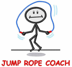 Jump Rope Coach embroidery design