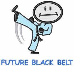 Future Black Belt embroidery design