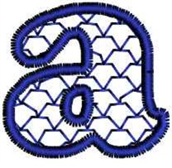 Fish Scales Letter a embroidery design