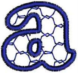 Interlock Letter a embroidery design