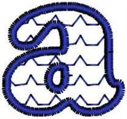 Scallop Letter a embroidery design