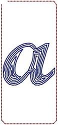 Contour Script a embroidery design