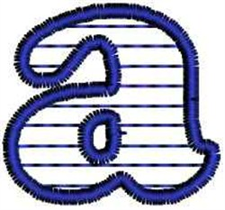 Horizontal Stripe  Letter a embroidery design
