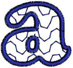 Wave  Letter a embroidery design