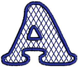 Harlequin Letter A embroidery design