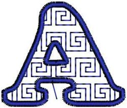 Key Letter A embroidery design