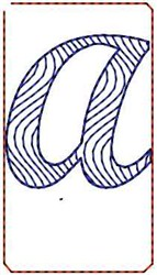 Wave Script A embroidery design