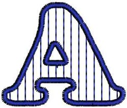 Vertical Stripes Letter A embroidery design