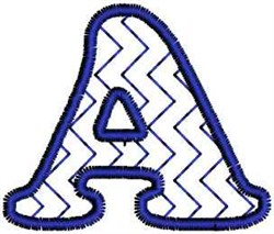 Zigzag Letter A embroidery design