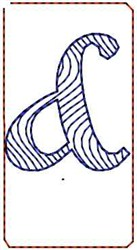 Wave Script Ampersand embroidery design