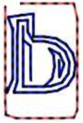Contour Letter b embroidery design