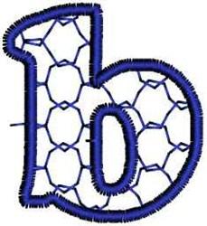 Interlock Letter b embroidery design
