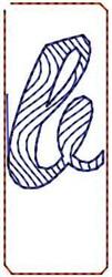 Wave Script b embroidery design