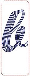 Contour Script b embroidery design