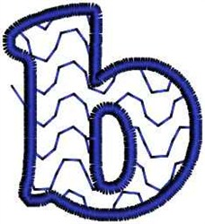 Waves Letter b embroidery design