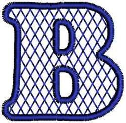 Harlequin Letter B embroidery design