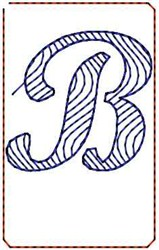 Wave Script B embroidery design