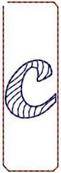 Wave Script c embroidery design