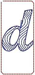 Wave Script d embroidery design