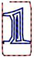 Contour Number 1 embroidery design