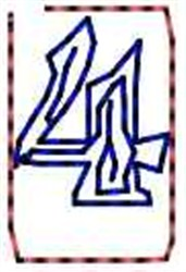 Contour Number 4 embroidery design