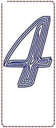 Contour Script 4 embroidery design