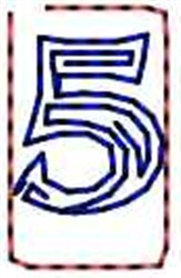 Contour Number 5 embroidery design