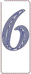 Contour Script 6 embroidery design