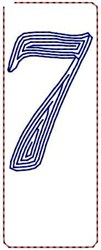 Contour Script 7 embroidery design