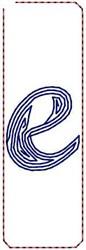 Contour Script e embroidery design