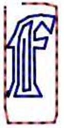 Contour Letter f embroidery design