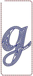 Contour Script g embroidery design