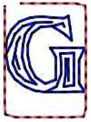 Contour Letter G embroidery design