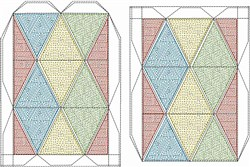 Parquet Shape Kaleidocycle embroidery design