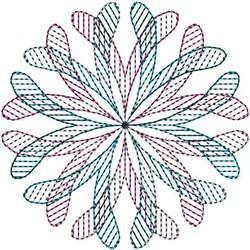 Geometric Swirl embroidery design